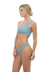 Storm Swimwear - Cinque Terre - One shoulder bikini top in Dusk Blue