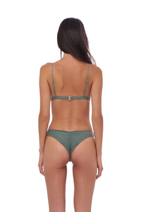 Storm Swimwear - Mallorca - Triangle Bikini Top with removable padding in Eucalyptus