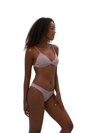 Storm Swimwear - Mallorca - Triangle Bikini Top with removable padding in Seascape Jacaranda Textured