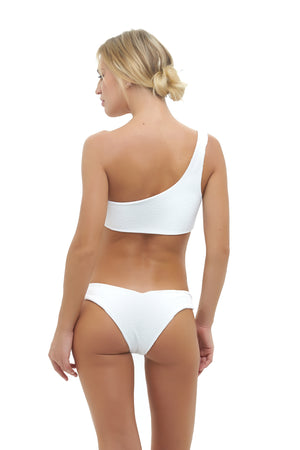 Storm Swimwear - Cinque Terre - One shoulder bikini top in Storm Le Nuage Blanc