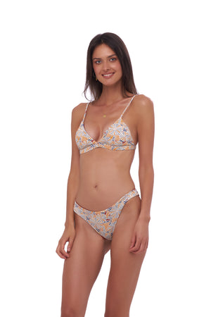 Storm Swimwear - Mallorca - Triangle Bikini Top with removable padding in Wild Flower Print
