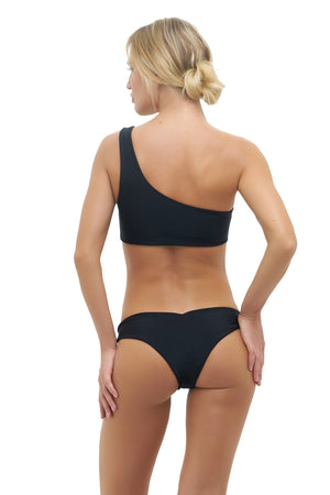 Storm Swimwear - Cinque Terre - One shoulder bikini top in Black