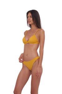 Storm Swimwear - Mallorca - Triangle Bikini Top with removable padding in Wattle Honeycomb