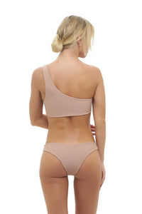 Storm Swimwear - Cinque Terre - One shoulder bikini top in Nude