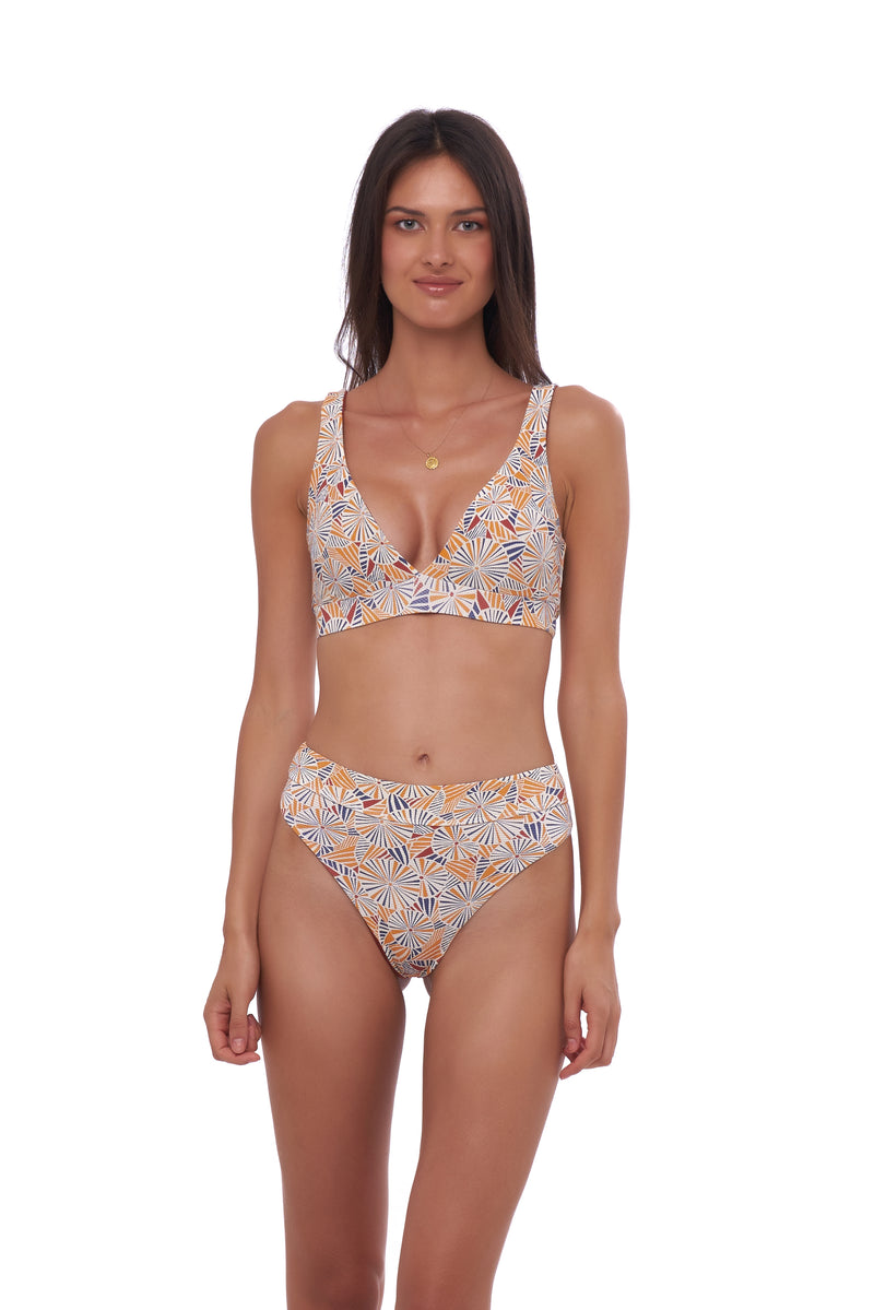 Storm Swimwear - Super Paradise - Super Style High waist brief in Wild Flowers