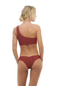 Storm Swimwear - Cinque Terre - One shoulder bikini top in Desert Sands