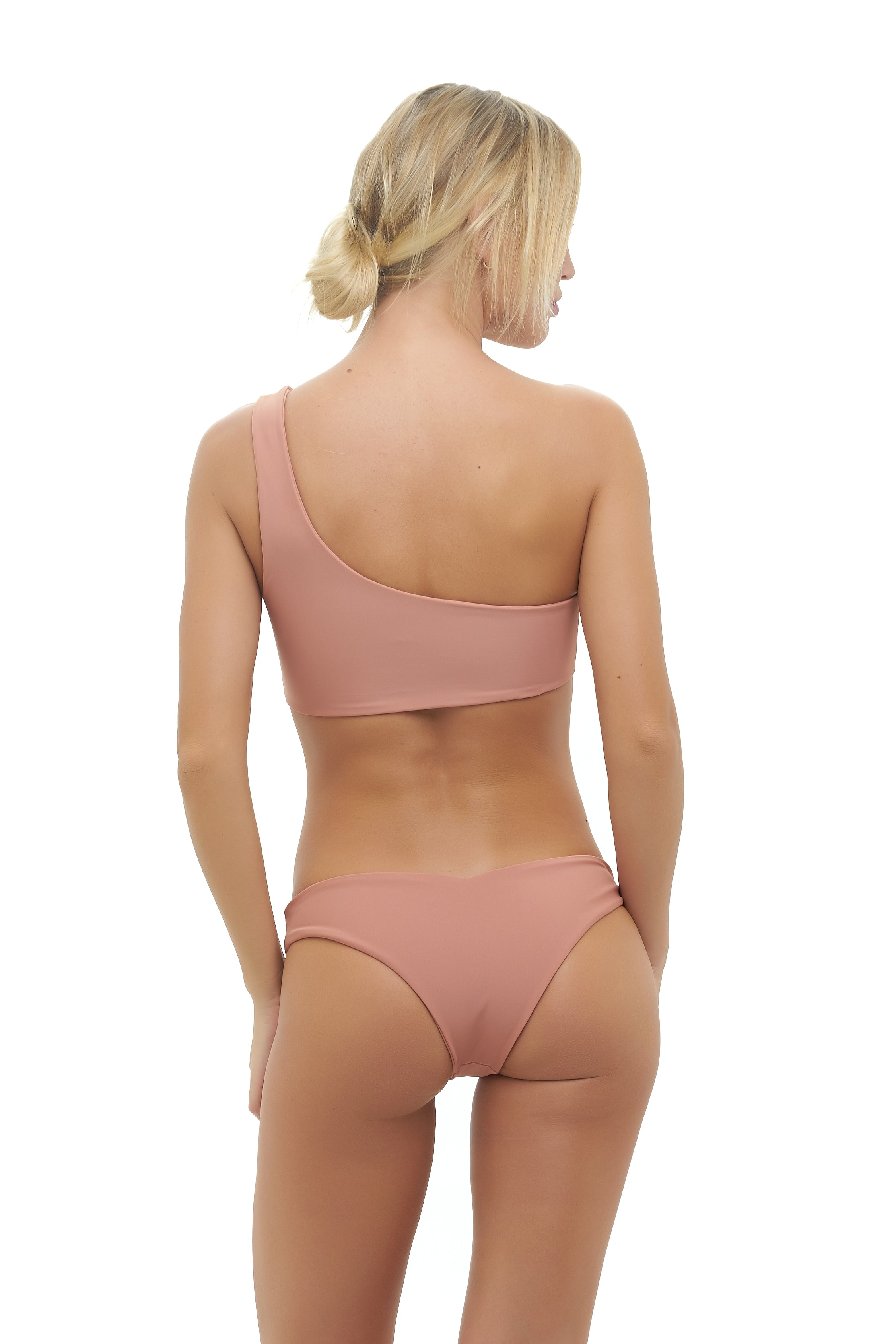 Storm Swimwear - Cinque Terre - One shoulder bikini top in Sun Kissed