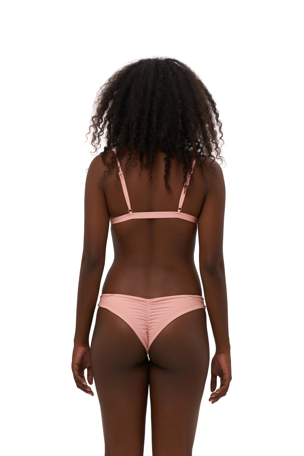 Storm Swimwear - Aruba - Centre Back Ruche Bikini Bottom in Coral Cloud