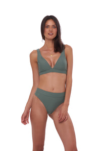 Storm Swimwear - Super Paradise - Super Style High waist brief in Eucalyptus