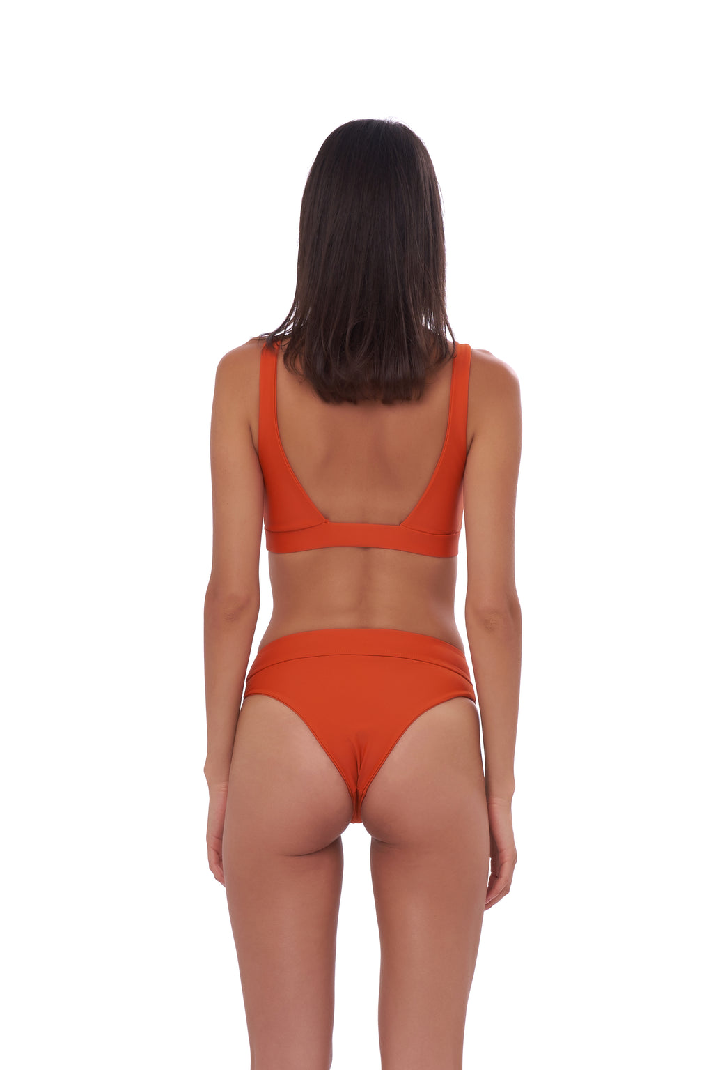 Storm Swimwear - Super Paradise - Super Style High waist brief in Sunburnt Orange