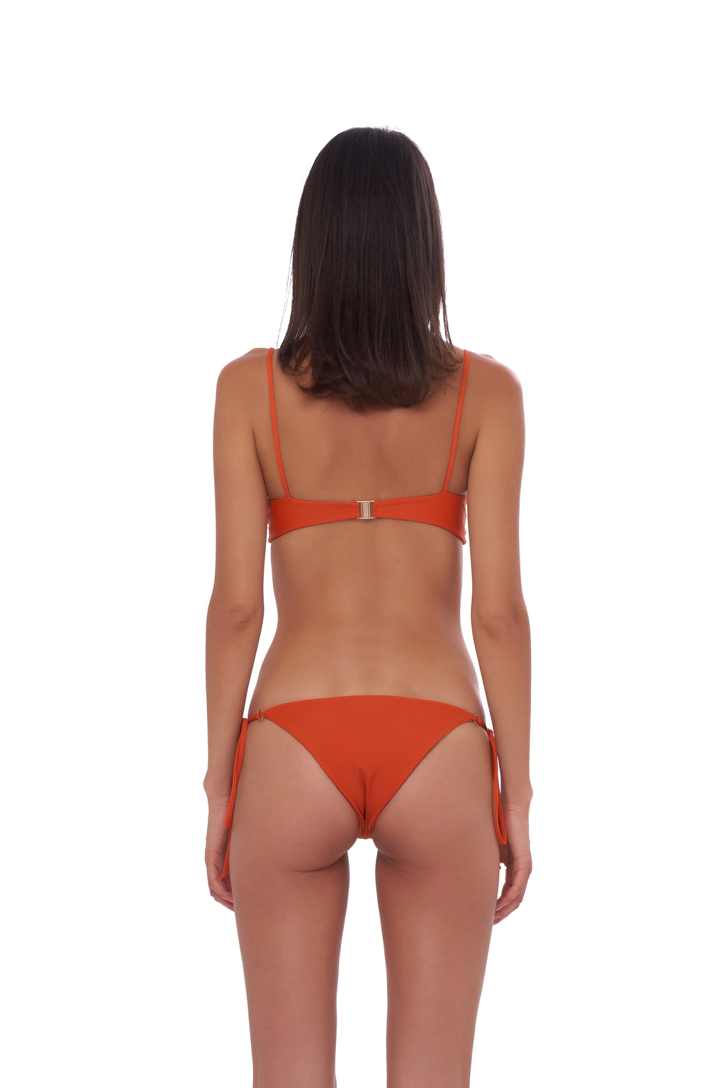 Storm Swimwear - Corfu - Tie Side with Ring Bikini Brief in Sunburnt Orange