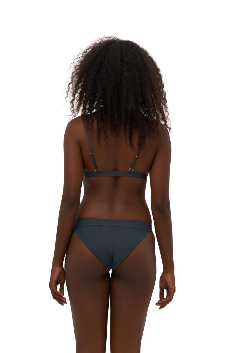Storm Swimwear - Biarritz - Triangle Bikini Top with removable padding in Slate Grey