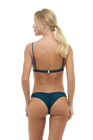 Storm swimwear - Aruba - Centre Back Ruche Bikini Bottom in Jungle Green