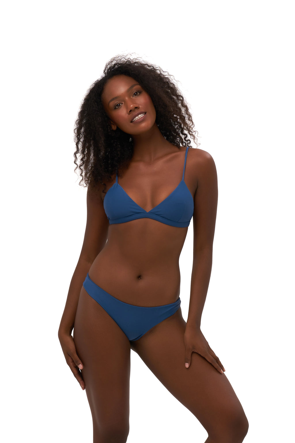 Storm Swimwear - Mallorca - Triangle Bikini Top with removable padding in Ocean Blue