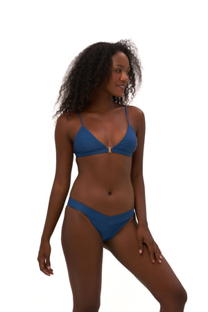 Storm Swimwear - Biarritz - Triangle Bikini Top with removable padding in Ocean Blue