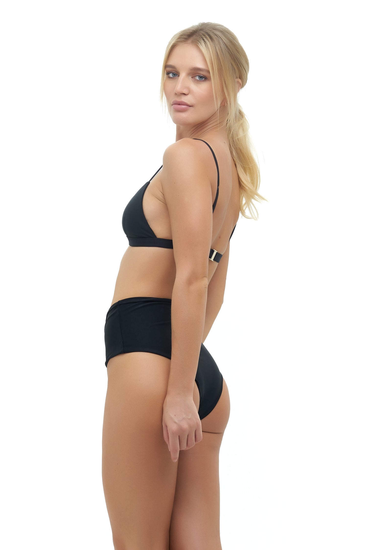 Storm Swimwear - Cannes - High Waist Bikini Bottom in Black