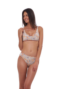 Storm Swimwear - Algarve - Scoop bikini top in Wild Flowers Print