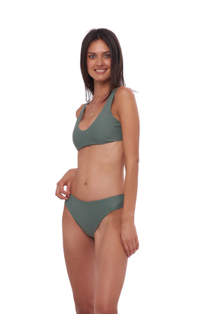 Storm Swimwear - Algarve - Scoop bikini top in Eucalyptus