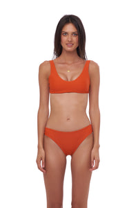 Storm Swimwear - Lagos - More Coverage Brief in Sunburnt Orange