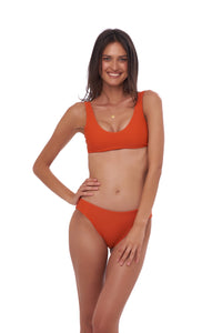 Storm Swimwear - Algarve - Scoop bikini top in Sunburnt Orange