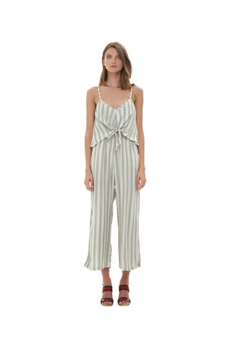 La Confection -  Marianne - Pant Jumpsuit in Nolita Sage Green and Cream