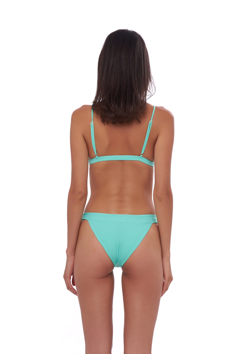 Storm Swimwear - Biarritz - Triangle Bikini Top with removable padding in Aquamarine