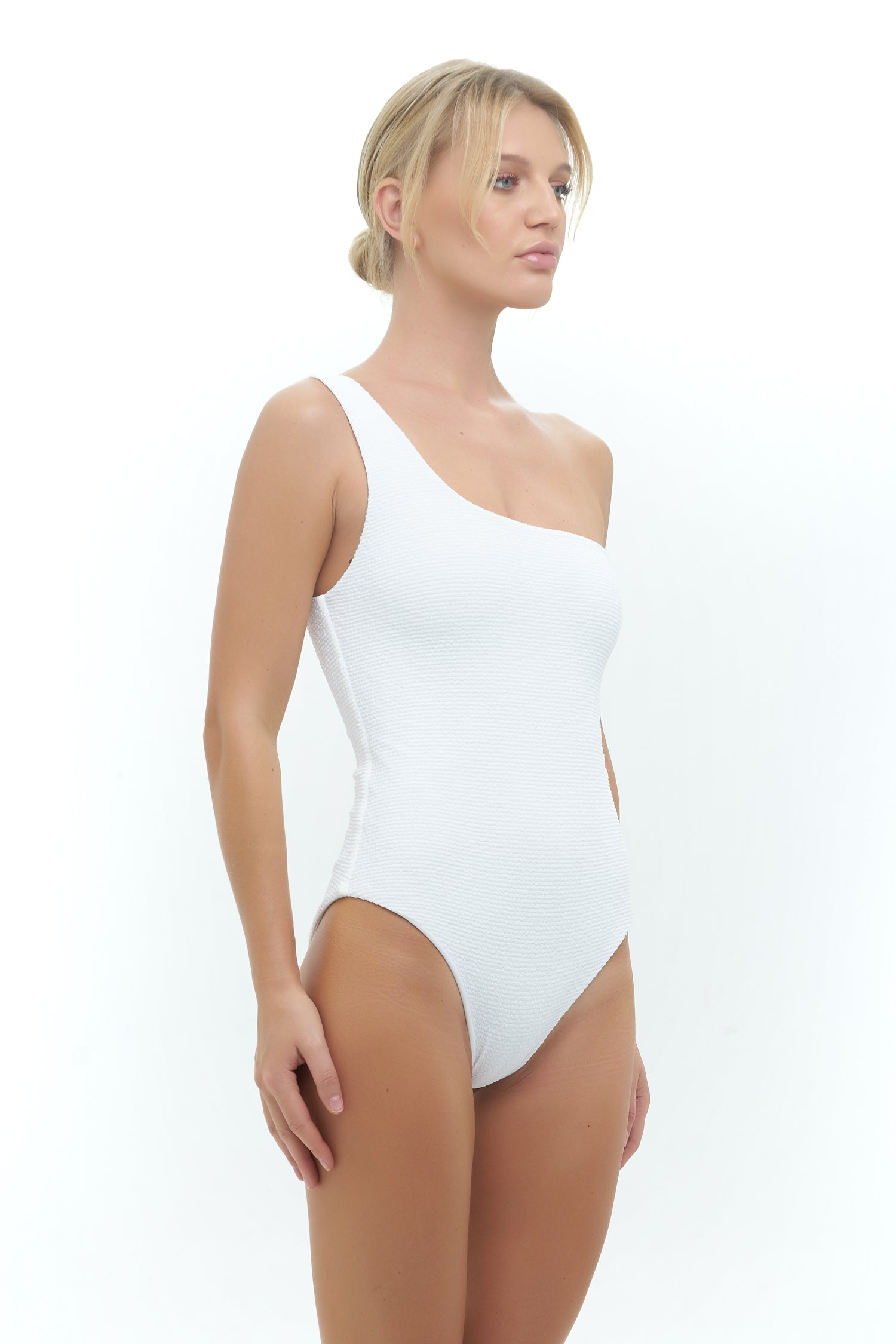 Storm Swimwear - Cinque Terre - One shoulder One Piece in Storm Le Nuage Blanc