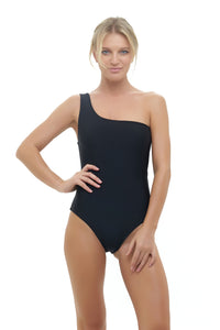 Storm Swimwear - Cinque Terre - One shoulder One Piece in Black