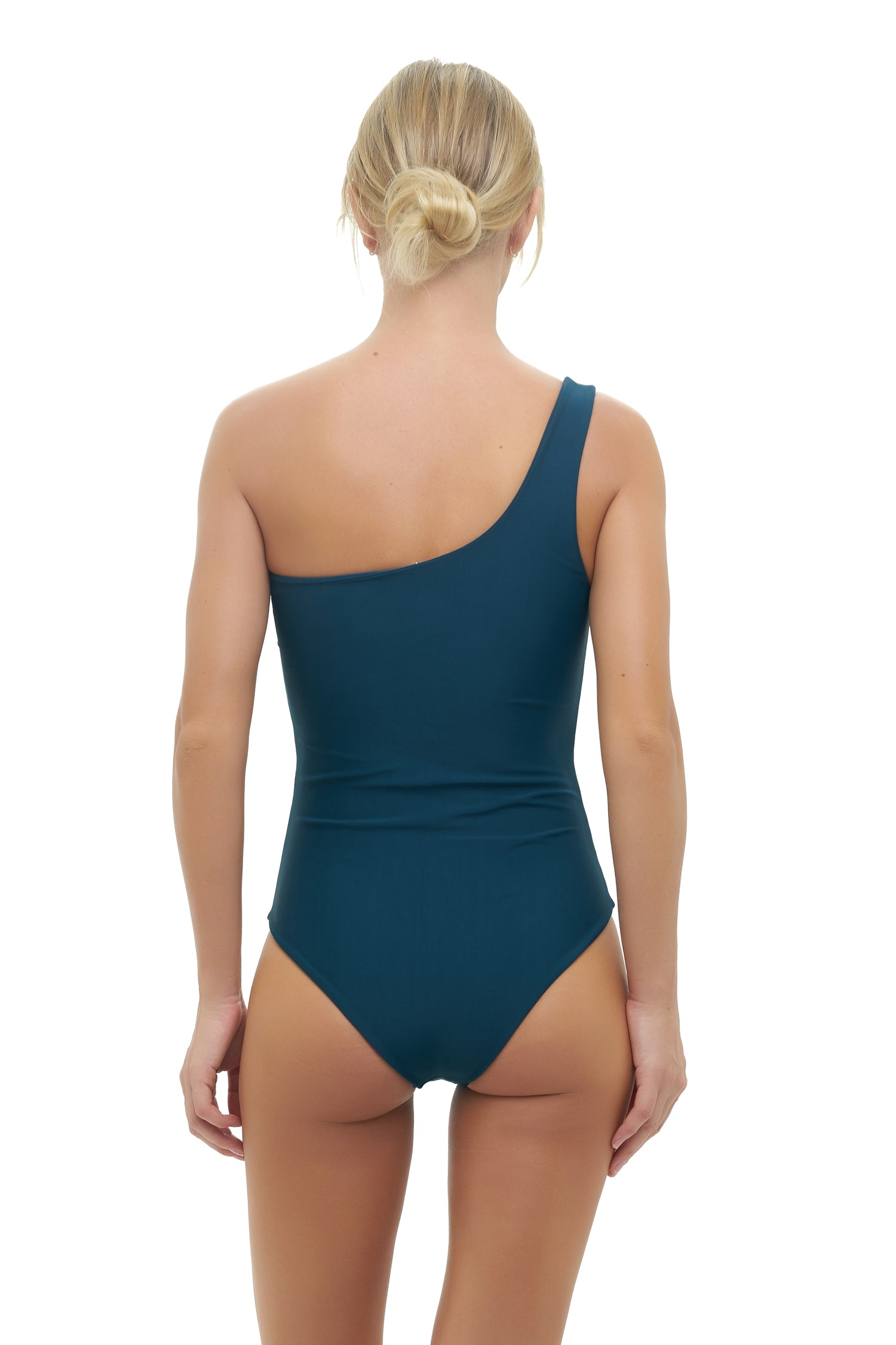 Storm Swimwear - Cinque Terre - One shoulder One Piece in Jungle Green