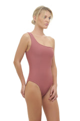 Storm Swimwear - Cinque Terre - One shoulder One Piece in Canyon Rose