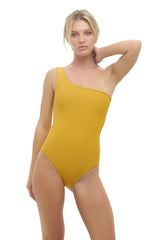 Storm Swimwear - Cinque Terre - One shoulder One Piece in Mustard