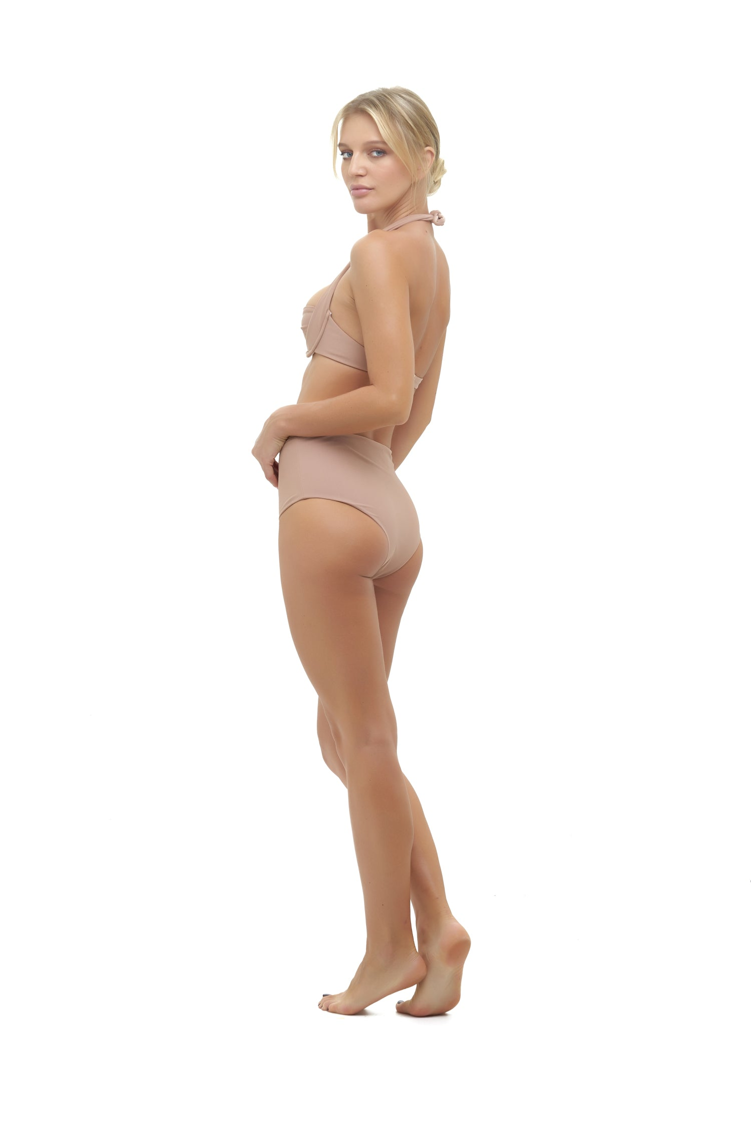 Storm Swimwear - Cannes - High Waist Bikini Bottom in Nude
