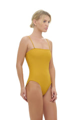 Storm Swimwear - Calla Granara - Removeable Strapless One Piece in Mustard