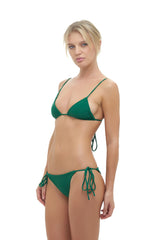 Storm Swimwear - Formentera - Tie Back Triangle Bikini Top in Palm Green