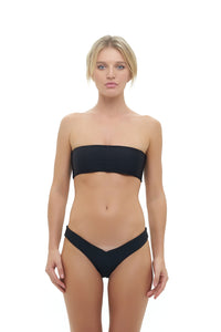 Storm Swimwear - Ravello - Plain Bandeu Bikini Top in Black
