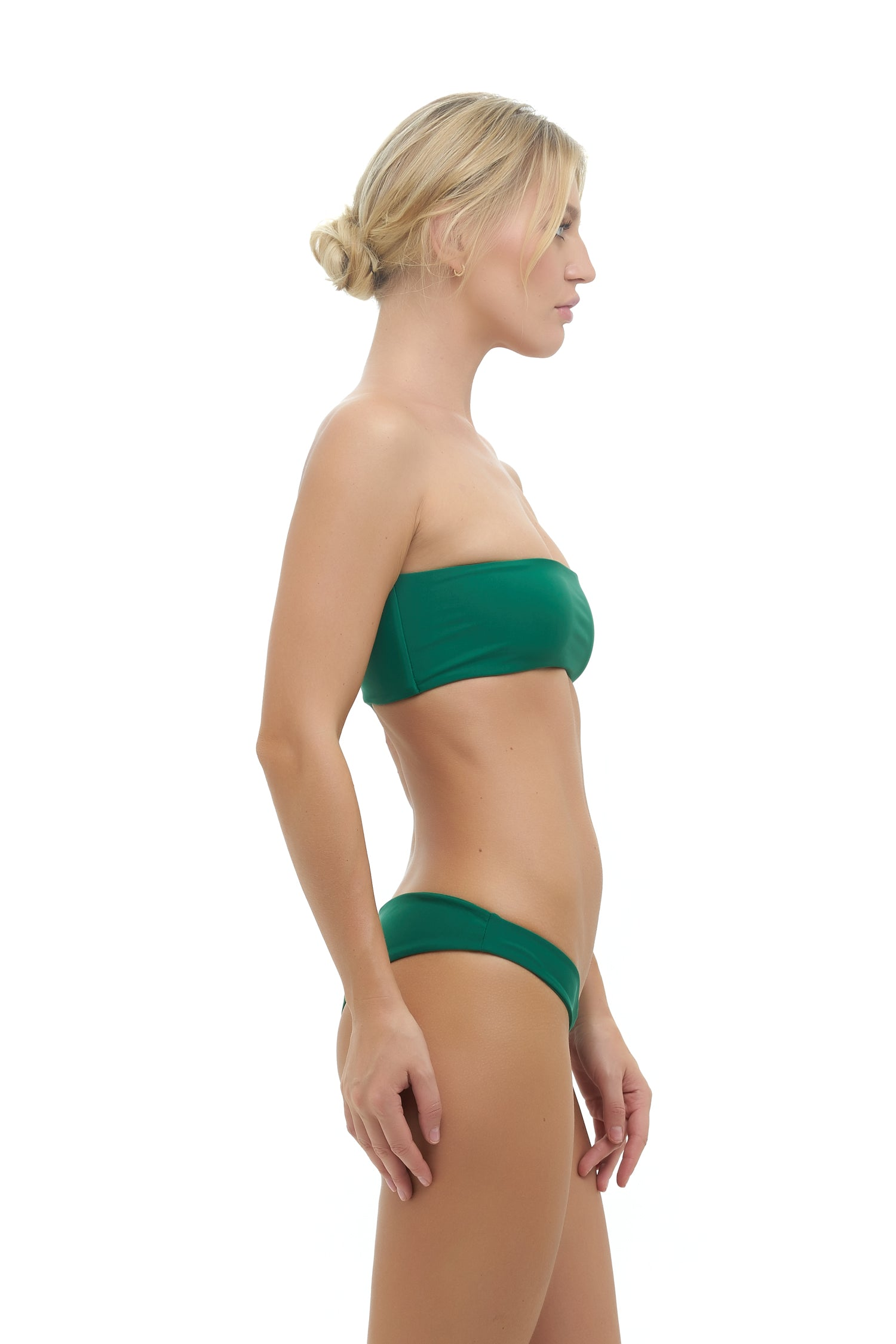 Storm Swimwear - Ravello - Plain Bandeu Bikini Top in Palm Green