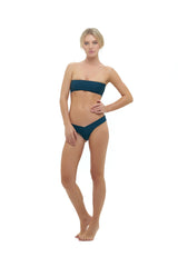 Storm Swimwear - Ravello - Plain Bandeu Bikini Top in Jungle Green