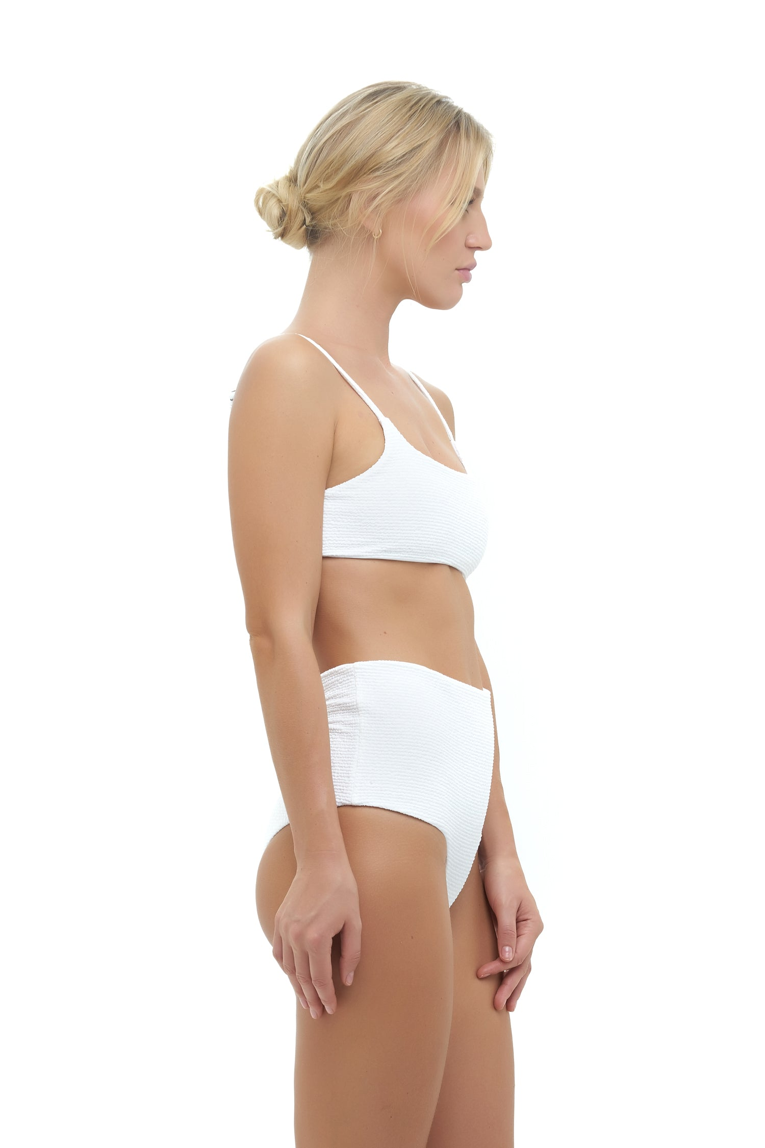 Storm Swimwear - Cannes - High Waist Bikini Bottom in Storm Le Nuage Blanc