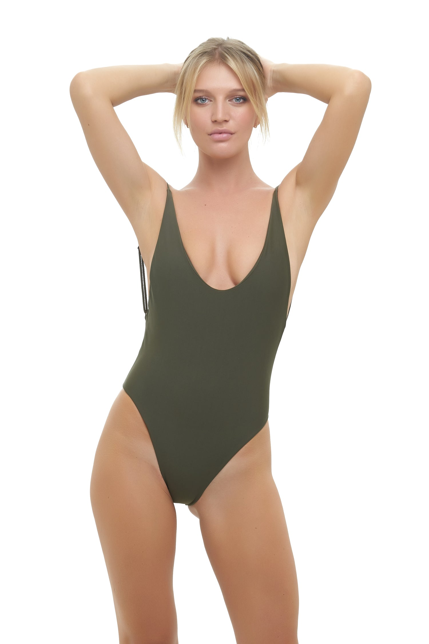 Storm Swimwear - Byron Bay - One Piece Swimsuit in Military Green