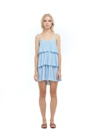 La Confection - Margeux - Playsuit in Abeille Print Dusk Blue
