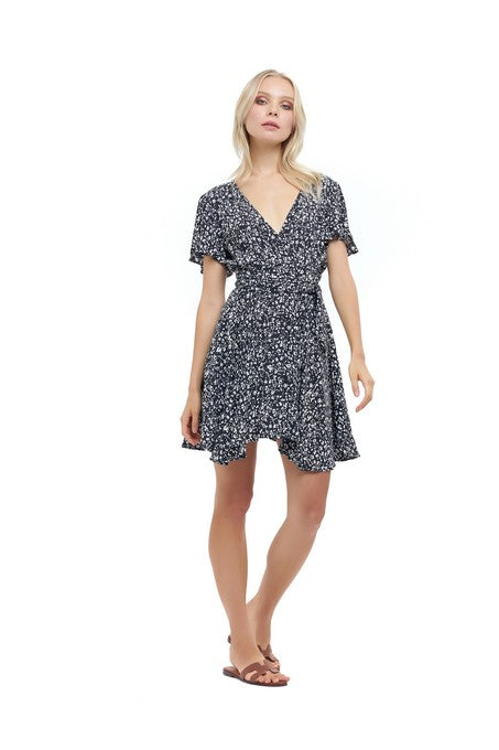 La Confection - Anouck - Micro Dress in Fleurette Print Black