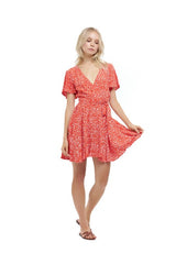 La Confection - Anouck - Micro Dress in Fleurette Print Red