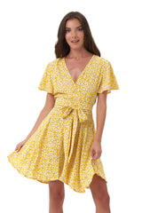La Confection - Anouck - Micro Dress in Vintage Flower Yellow