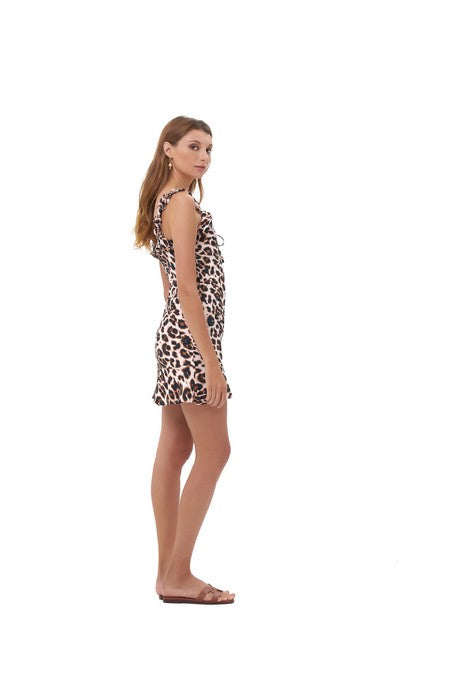 La Confection - Ajak - Dress in Leopard Print