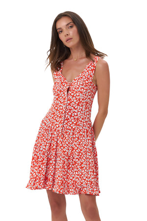La Confection - Dilone - Dress in Vintage Flower Red