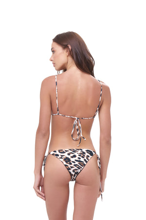 Storm Swimwear - Formentera - Tie Back Triangle Bikini Top in Leopard Print
