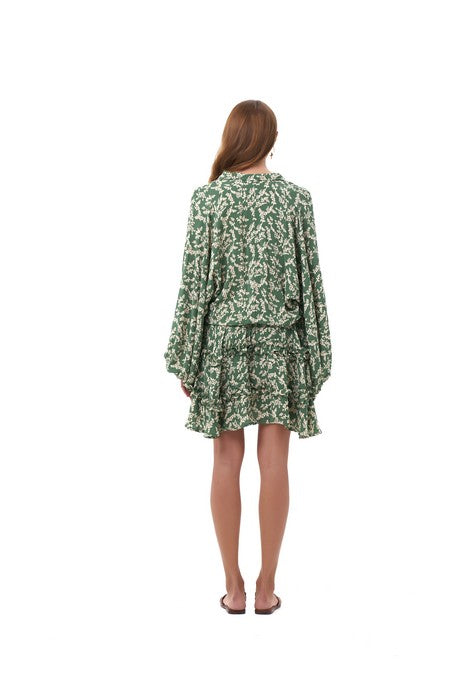 La Confection - Willow - Long Sleeve in Ivy in Dill and Birch