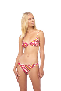 Storm Swimwear - Bora Bora - Twist front padded top in Kaleidescope print