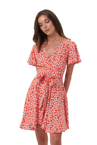 La Confection - Anouck - Micro Dress in Vintage Flower Red