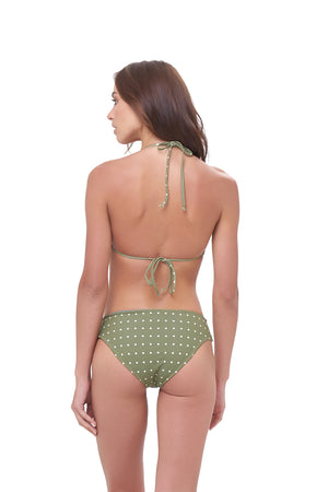 Storm Swimwear - Isola Bella - Bikini Top in Seagrass Polkadot